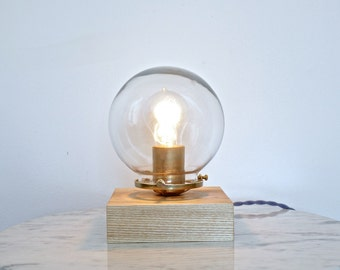 modern lamp, wood light, desk lamp