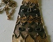1970s HUGE Articulated THUNDERBIRD PHOENIX Pendant Necklace
