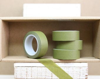 Washi Tape - solid olive green - S16