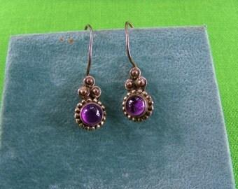 Vintage Sterling Fishhook Earrings (Item 417)