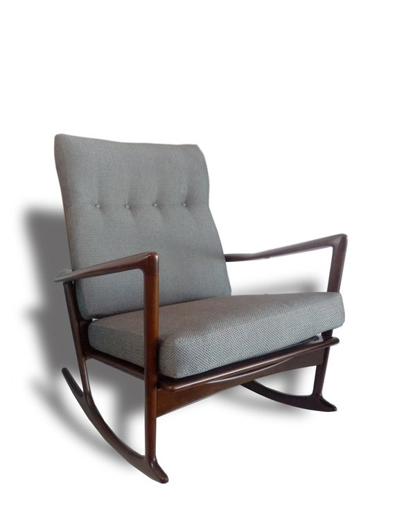 mid century modern danish rocking chair by ib kofod larsen for selig