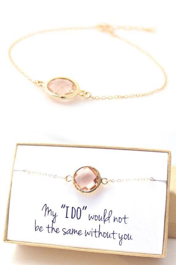 peach champagne gold circle bracelet