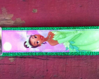 Disney Inspired Princess Tiana/ Tiana/ Princess and the Frog Keychain/Key Fob