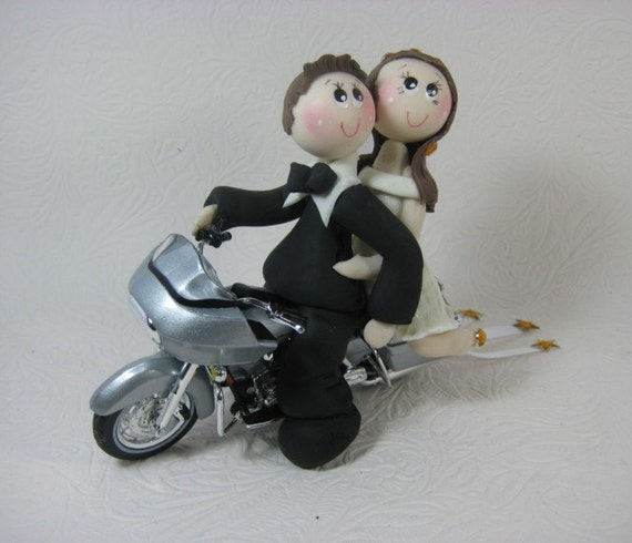 wedding cake toppers with motorbike items similar to motorcycle cake topper custom wedding 26637