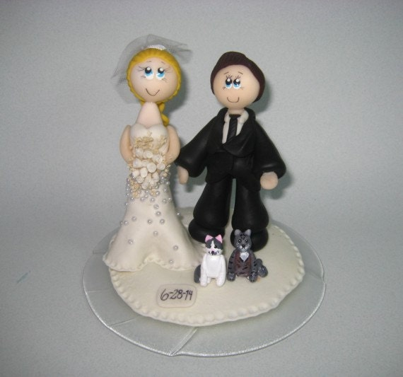 cat wedding cake toppers cat wedding cake topper cat cake topper 2519