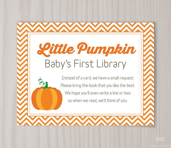 Library Card Baby Shower Invitation with beautiful invitation design