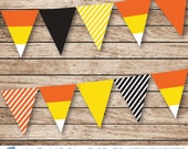 Halloween Candy Corn Banner for INSTANT DOWNLOAD