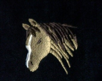 Horse Heads Full or Twin Fleece Blanket