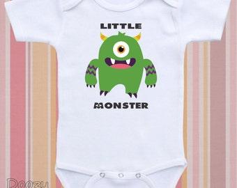 Cute Baby Onesies ® Funny Baby Onesie ® Monster Onesie ® Monster Shirt Custom Baby Shower Gift Baby Boy Baby Girl / Little Monster