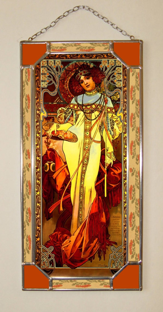Items similar to Alphonse Mucha. Autumn. on Etsy