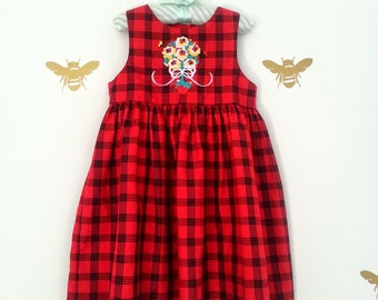 Vintage Toddler Plaid Dress
