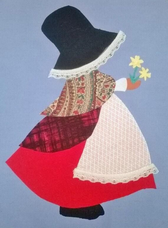 instant download  welsh sun bonnet siwan quilt applique