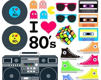 Digital Clipart - 80's Clip Art for Scrapbooking ...