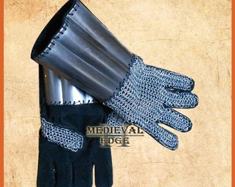 chainmail-gauntlets antique gauntlet chain-mail gloves replica