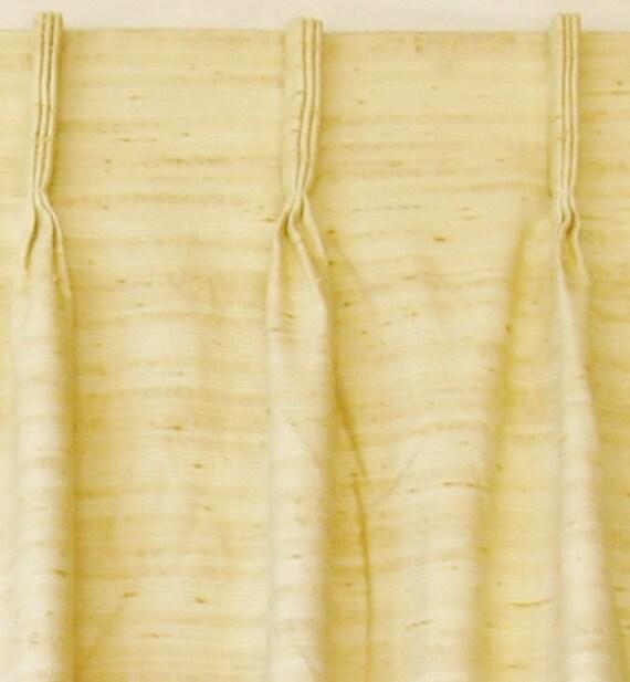 Xl Mid Century Barkcloth Drapes Curtains Pair Vintage Pinch