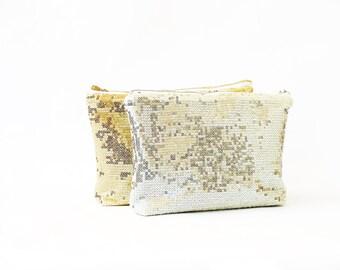 Metallic clutch purse, sequins clutch bag, bridesmaids clutch purse, sparkle clutch bag, black silver gold brown aqua blue green pink red