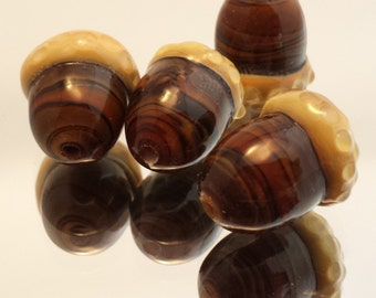 Glass Acorn Lampwork Bead or Charm