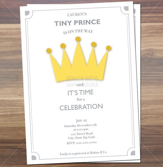 Printable royal prince baby shower invitation little prince invite il570xn filmwisefo