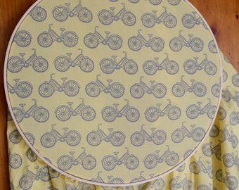 Organic Yellow Crib Sheet - Bicycle Nursery - Yellow Grey Nursery - Organic Fitted Crib Sheet - Yellow Bicycle Baby Bedding - Bike Baby