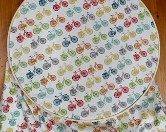 Bicycle Crib Sheet - Organic Baby Bedding - Toddler Fitted Sheet - Bike Baby Bedding - Gender Neutral Baby - Bicycle Nursery