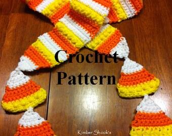 Candy Corn Scarf Crochet Pattern