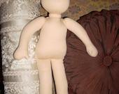 Handmade unfinished organic Waldorf Doll Blank