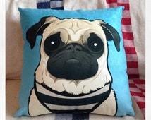 Doug the pug cushion