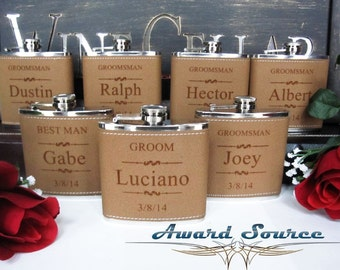 Flasks , Groomsmen Gifts, Personalized Flasks, Custom Flasks, Engraved Flasks, Groom Gift, Flask, Custom Groomsmen Flask, Will You Be My