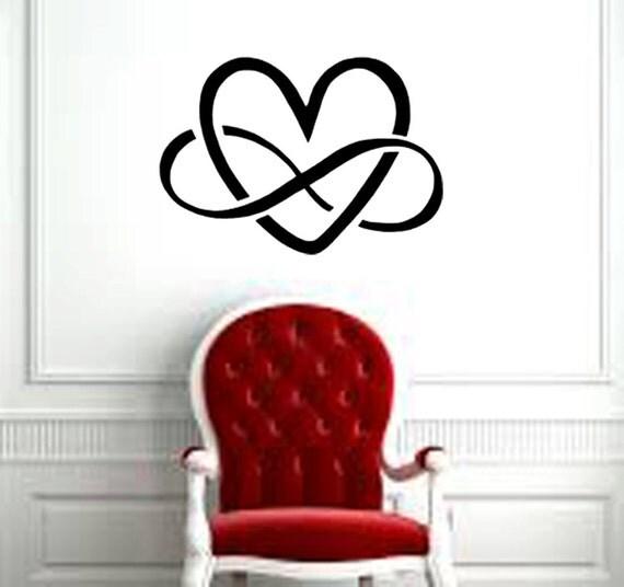 symbole de l 39 infini avec d calque de mur. Black Bedroom Furniture Sets. Home Design Ideas
