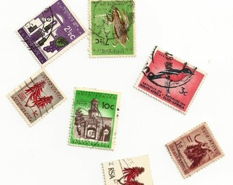 Bulk Vintage South African Stamps for Crafting!  LOT ONE