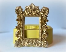 0731 Baroque Picture Frame Silicone Rubber Flexible Food Safe Mold Mould-resin, clay, fondant, cake decor, candy, chocolate