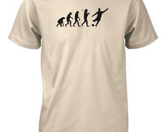 Evolution of Man Soccer T-Shirt Football Futbol Goal Sports Funny T-Shirt