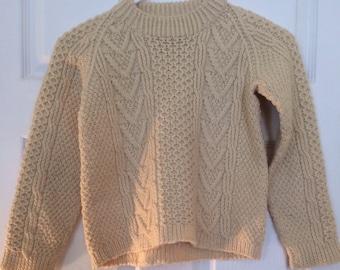 Vtg Irish Wool Sweater - Kids