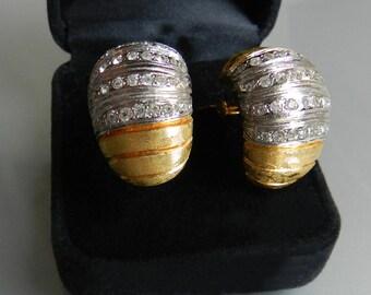 Pierre Cardin. Beautiful vintage earrings. Made in France.