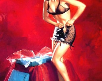 1950's Vintage Pin-Up Girl Poster 9