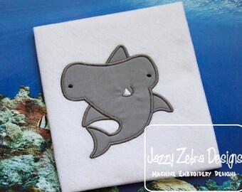 Hammer Head Shark Appliqué embroidery Design - shark Applique Design - hammerhead Applique Design - beach Appliqué Design - summer Applique