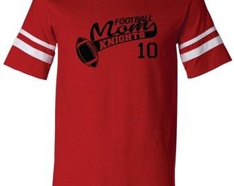 FOOTBALL MOM Shirt. Football. Team Name. Mascot Name. With Number. V-Neck Jersey Shirt. Team Football Shirt. Football Team Shirt. Football.