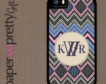 Custom Name Phone Case, Personalized iPhone 6s Case, 6 Plus, 5C, 5S, SE Case, Personalized Galaxy S6, S7, S5 Cell Phone Cover Zany Zig Zag
