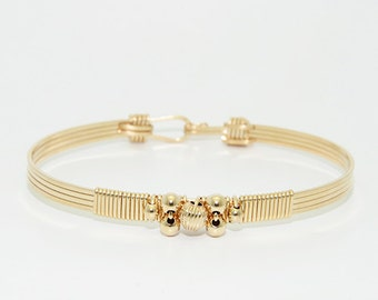 The Cleopatra Stackable Bracelet \ Gold Stackable Bracelet \ Gold Bangle \ Gold Cuff Jewelry