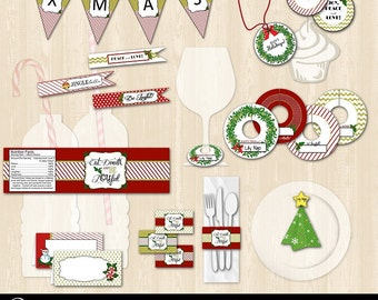 Christmas Table Setting Printable Bundle Package