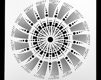 Art Shape Experimental Mandala.  Wall / Art / Craft / Painting / Makeup / Furniture / Tattoo / Overlay Airbrush Stencil.