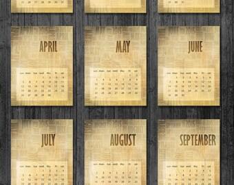 Calendars 2016 Printable 8 5x11 Free   Calendar Template 2016