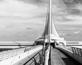 Milwaukee Art Museum Wisconsin Fine Art Black and White Santiago Calatrava Photo Print Home Wall Decor by Rose Clearfield on Etsy