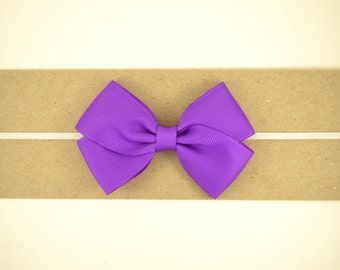 Purple Grosgrain Bow Headband - Baby Headband - Toddler Headband - Adult Headband