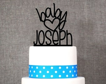 Custom name baby topper - Baby Cake Topper by Chicago Factory- (T073)