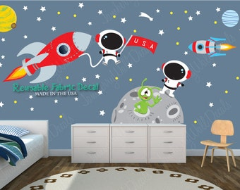 Space Wall Decal, Space Stickers, Astronaut Decal, Space Decals, Rocket  Ship Wall Part 43