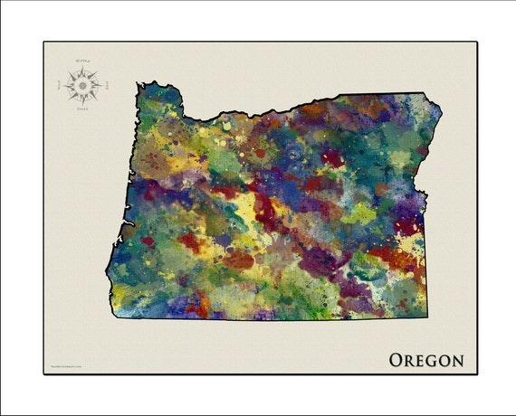 OREGON Map Map of Oregon Oregon PORTLAND Map of Portland