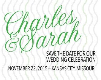 Simple scripted save the date