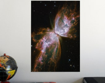 """The Butterfly in NGC 6302 nebula 19"""" x 13"""" Poster - Science Astronomy Wall Art - Window on the Universe series"""