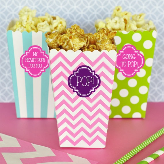 Personalized Popcorn Bag Boxes Popcorn Cups Popcorn Favors
